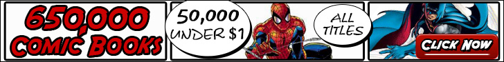 650,000 comic books. 50,000 under $1. All titles. Click now